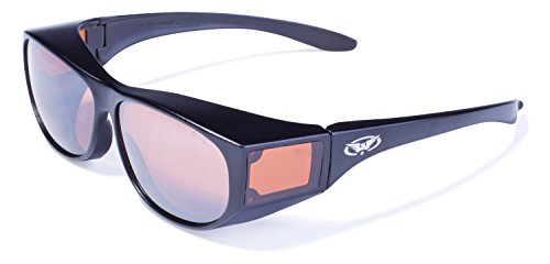 Global Vision Eyewear Escort Safety Glasses with Gloss Black Frames and Driving Mirror - Eyewear Corp Global Vision