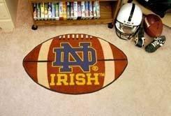 (Fanmats Notre Dame Fighting Irish Football-Shaped Mats )