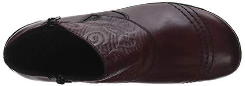 Z4682 Donna 35 Stivaletti Rieker burgundy Rosso TxanwA