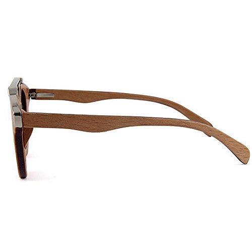 Gentleman métal conduite polarisées soleil de Lunettes Protection haute de lunettes à UV plage en bois soleil de de la soleil de de lunettes lunettes main de Bleu qualité de décoration soleil de en de FvqqwEHx
