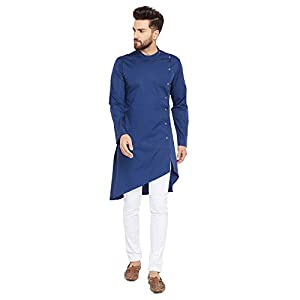 See Designs Men's cotton Kurta (SDMDWKT37901L_ Blue_ L)