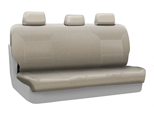 - Coverking Custom Fit Rear Solid Bench Seat Cover for Select Ram RAM 2500/3500/Pickup Models - Genuine Leather (Beige)