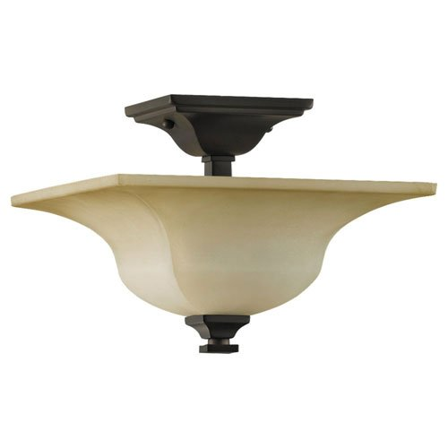 Feiss SF236ORB American Foursquare Collection Oil Rubbed Bronze Semi Flush