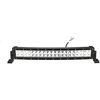 """Primeprolight Curved 120w 24"""" Inch Led Light Bar Spot and Flood Combo Beam Waterproof Work Off Road Lamp Bar"""