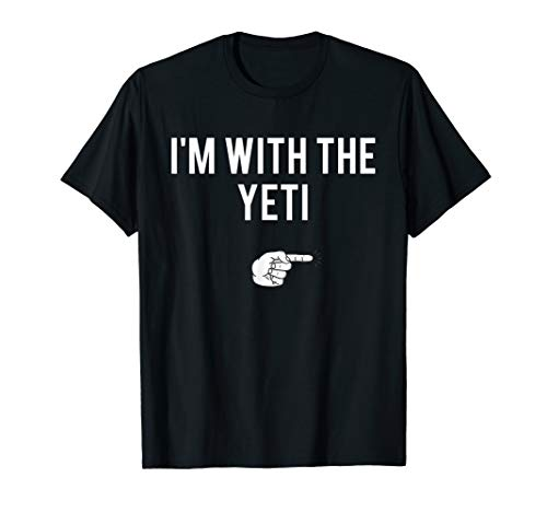 I'm With The Yeti Halloween Costume Funny Couples T-Shirt