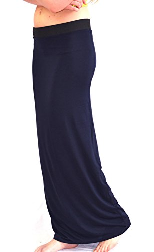 Sexy Femmes Robe Longue Dcontracte Jupe Longue By Pure Cotton Bleu Marine