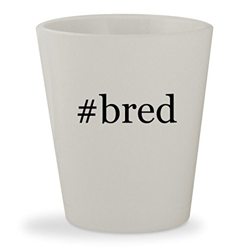#bred - White Hashtag Ceramic 1.5oz Shot Glass