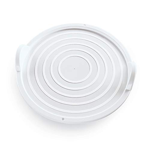 Heat Resistant Microwavable Tray with Easy-Grip Handles, Stays Cool