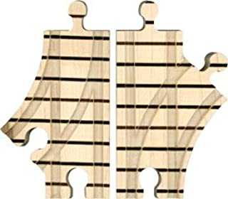 product image for Wooden Train Track - Short Switch Pair - Made in USA