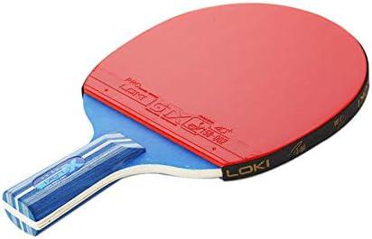 ZJH Raqueta de Tenis de Mesa, Paleta de Goma del Ping-Pong del Pegamento del revés de Doble Cara de Madera de Wenge de 5 Capas