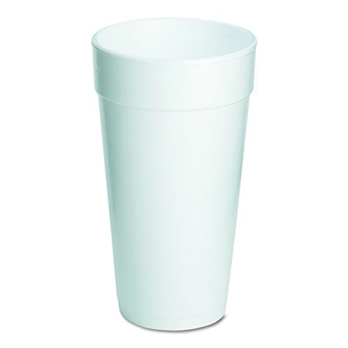 "Dart 20J16 3.7"" Top and 2.4"" Bottom Diameter, 6.1"" Height, 20 oz Big Drink Foam Cup (20 Packs of 25)"