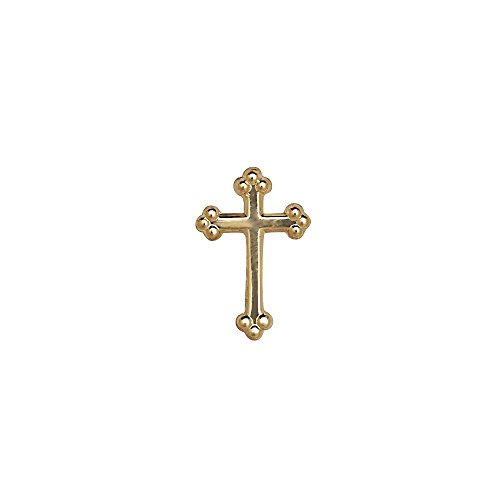 JewelryWeb 14k Yellow or White Gold Budded Cross Lapel Pin For Men (yellow-gold) 14k Yellow Tie Pin