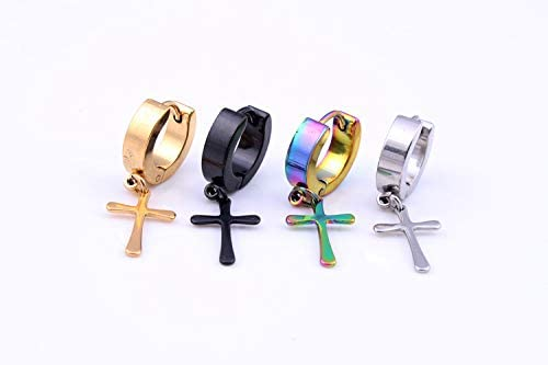 Black 7 pairs earring stainless steel Piercing Plugs Tunnel Punk Style Earrings stud Jewelry Set for Wedding Ear Plugs Gauges Studs Earrings Set