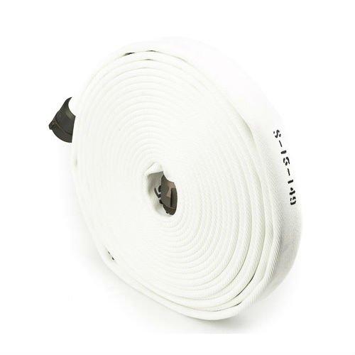 White 2.5'' x 25' Double Jacket Fire Hose (Alum NH Couplings)