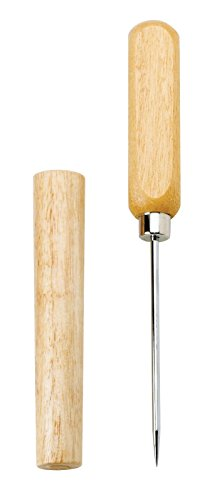 Handle Wooden Sheath (Ice Pick & Cover - Wooden Sheath & Handle - Durable Steel Shaft - 8.5