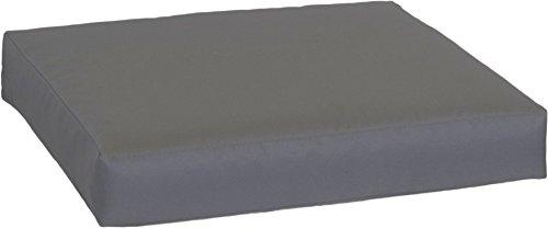 Beo LKP 80 x 60PY202 Coussin de canapé en Palette avec Fermeture éclair et Tissu Hydrofuge Anthracite 80 x 60 cm