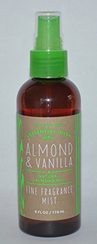 Body Cream Leaves (Bath and Body Works Fine Fragrance Mist Almond Vanilla 6 Ounce New Version Amber Bottle)