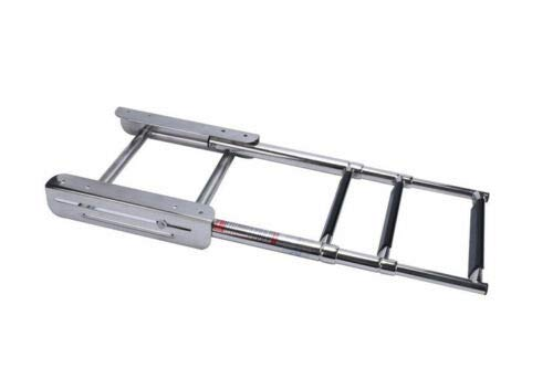 M-ARINE BABY 3-Step Under Platform Telescoping Slide Mount Boat Boarding Ladder Stainless Steel Marine Ladder