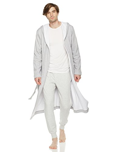 - Rebel Canyon Young Men's Long Sleeve Thermal-Lined Soft Cotton Long Jersey Robe (X-Large, Lt Grey Heather)