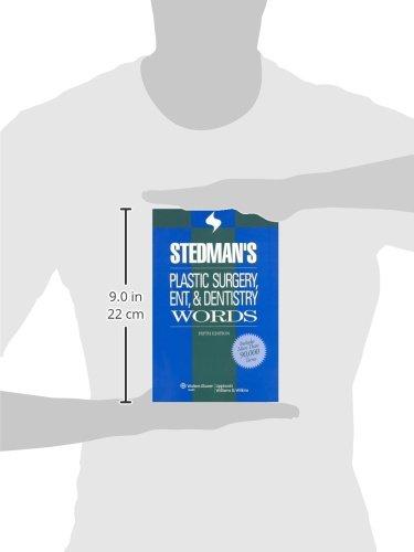 Stedman's Plastic Surgery, ENT & Dentistry Words (Stedman's Word Book)