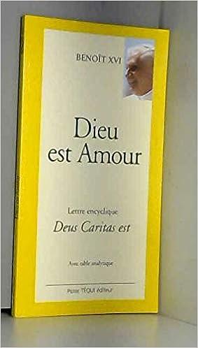 Amazon Fr Dieu Est Amour Gros Caracteres Benoit Xvi Livres
