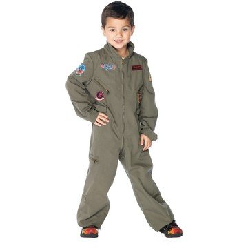 Maverick Halloween Costume (Top Gun Boys Flight Suit Child Costume - Medium)