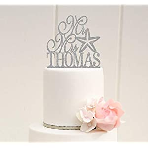 31rqV7Khs7L._SS300_ Beach Wedding Cake Toppers & Nautical Cake Toppers