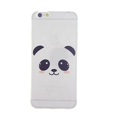 CaseBee® - Cute Panda Face Print iPhone 6 (4.7) Case - Perfect Gift (Package includes Screen Protector)
