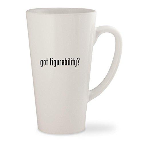 got figurability? - White 17oz Ceramic Latte Mug (Sesame Street Vampire Laugh)
