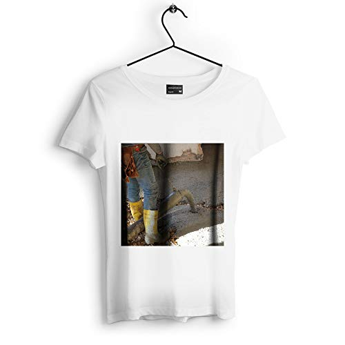Westlake Art - Concrete Boot - Unisex Tshirt - Picture Photography Artwork Shirt - White Adult Medium - Cast Westlake White