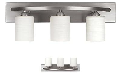 3 Bulb Vanity Light Fixture Bath Interior Lighting