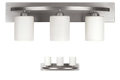 Wall Bathroom Light Fixtures Brushed Nickel Amazoncom - 6 bulb bathroom light fixture for bathroom decor ideas