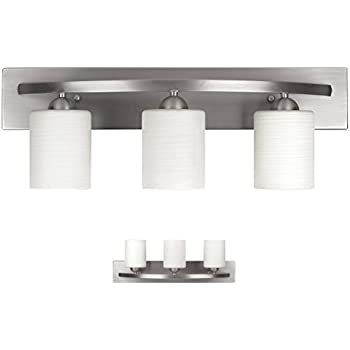 Kichler 6162ni structures 2 light bath wall mount in - 8 light bathroom fixture brushed nickel ...