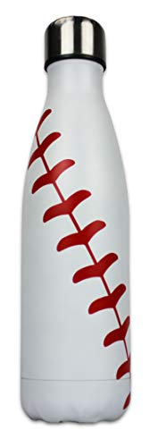Mom Stainless Water Bottle - Urbanifi Water Bottle Baseball Softball Tumbler 17 oz Gift for Mom Men Sports Travel Waterbottle, Stainless Steel, Vacuum Insulated, Keeps Water Cold for 24, Hot for 12 hours (Baseball)
