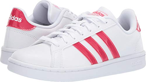 adidas Women's Grand Court White/Active Pink/White 8.5 B US