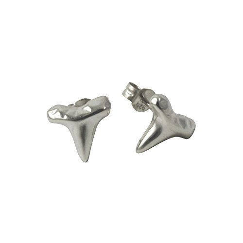 Sterling Silver Tooth - apop nyc 925 Sterling Silver Shark Tooth Style Stud Earrings [Jewelry]