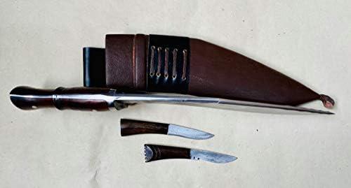 Khukuri Craft 12 Blade 5 fullers panawal Full Tang Best kukri ganjawal Sheath Working,Military Knives,Handmade, Nepal