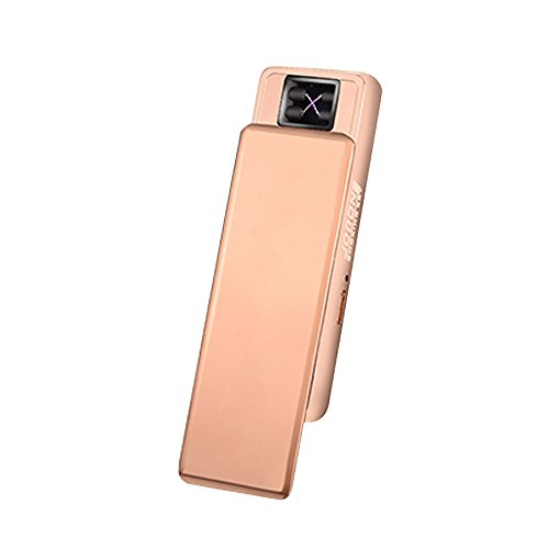 Jobon Exquisite Lady Double Arc Cigarette Lighter ZB-388 USB Rechargeable Windproof Flameless with Cleaning Brush and Gift Box (Gold) (Lady Arc)