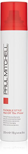 Paul Mitchell Hot Off The Press Thermal Protection Spray,6 oz (Flat Spray Iron Hair)