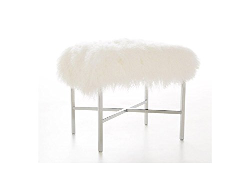 Tibetan Lamb Vanity Stool or Luxury Bench