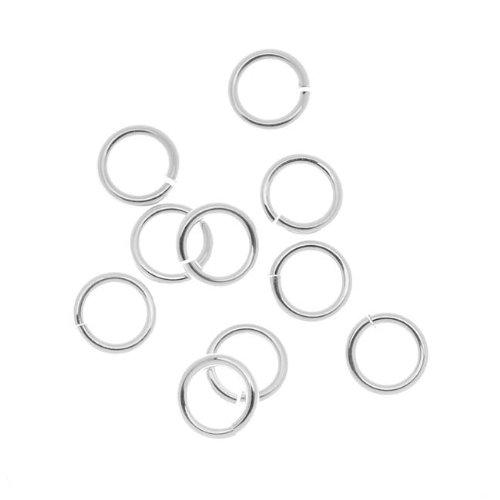 Beadaholique 10-Piece Sterling Jump Lock Rings, 8mm, 16-Gauge, Silver 16 Gauge Jump Rings