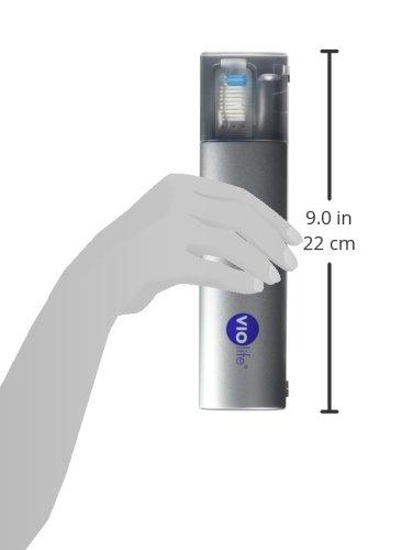 Violife VIO200B Travel Ultraviolet Toothbrush Sanitizer VIO200B, Silver, 5.5 Ounce by VIOlife (Image #5)