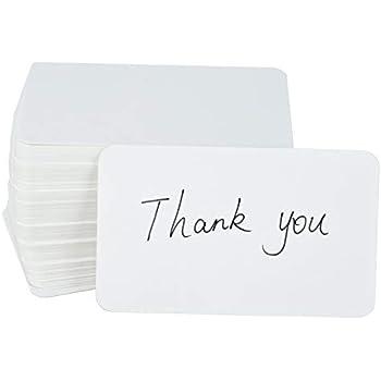 Amazon fecedy 100pcs blank kraft paper business cards word fecedy 100pcs blank kraft paper business cards word card message card diy gift card white reheart Gallery