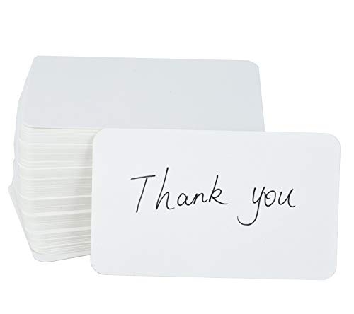 Fecedy 100pcs Blank Kraft paper Business Cards Word Card Message Card DIY Gift Card (white) -