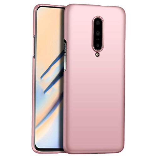 Pumsun for OnePlus 7 Pro 6.7 Inch Case Cover Protector, Ultrathin Electroplate + PC Nonslip Hard Case Cover (Pink)