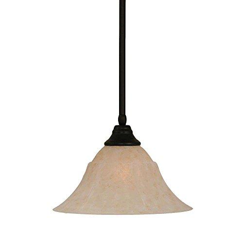 53313 Stem Pendant - Toltec Lighting 26-MB-53313 Stem Pendant with Hang Straight Swivel with 14