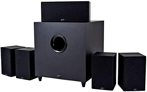 Monoprice 10565 Premium 5.1 Channel Residence Theater System with Subwoofer Black