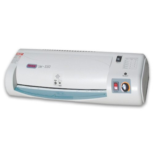 Tamerica SM330 Thermal Pouch Laminator; Rigid plastic components & high-impact plastic body; Adjustable temperature control & smooth, quiet motor; 3-position switch for heater & enhanced motor drive by Tamerica