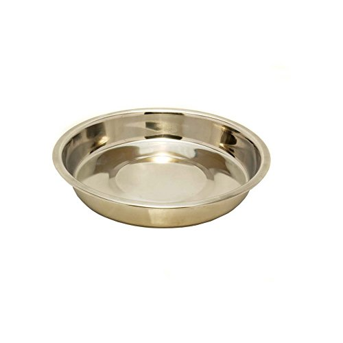 Rosewood Stainless Steel Shallow Puppy Pan (10in) (Silver) (Stainless Puppy Steel Pan)