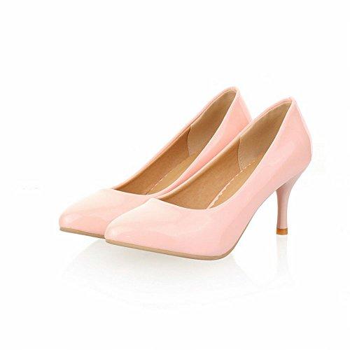 Latasa Femmes Charme Haute-stiletto Pointu-orteil Robe Chaussures Rose